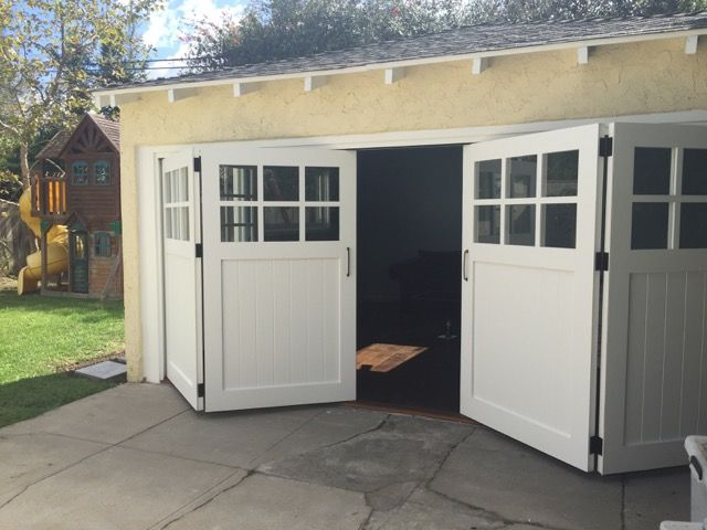 Bi-fold Carriage Doors with Marine Composite - Los Angeles CA & 17 best Real Carriage Doors images on Pinterest | Carriage doors ...