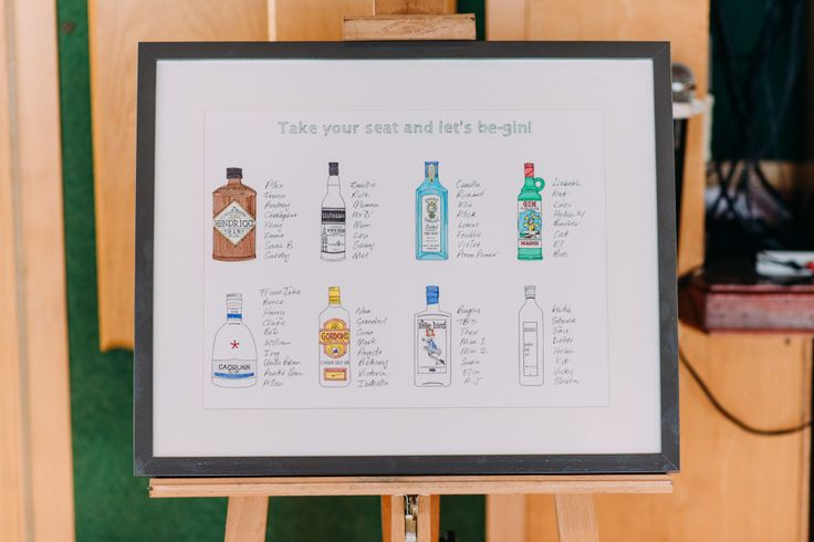 Greenwich Yacht Club in London | DIY Decor | Gin Bottle Table Plan | Anna Pumer Photography | http://www.rockmywedding.co.uk/emillie-ruth/