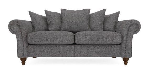 buy gosford scatter back large sofa 3 seats textured weave light charcoal lowturned standard. Black Bedroom Furniture Sets. Home Design Ideas