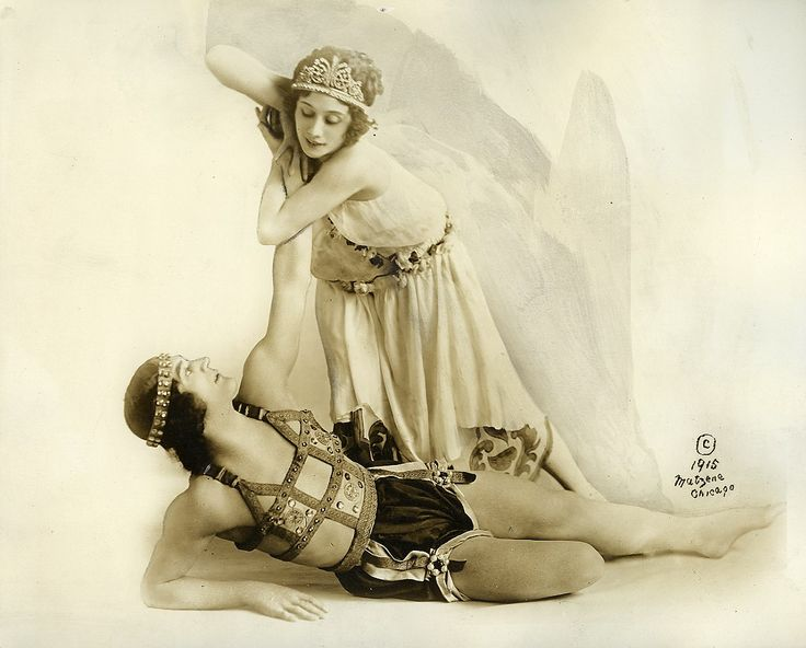 baryshnya:  Анна Павлова с Михаилом Мордкиным1915