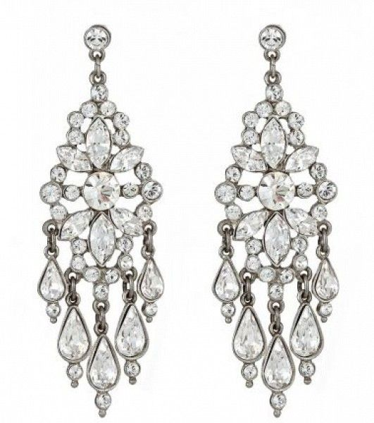 Ben-Amun Multi-Strand Crystal Drop Earrings JyrTx