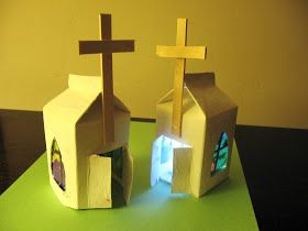 Almost Unschoolers: Milk Carton Easter Chapels