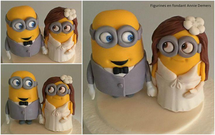 minion weeding cake topper https://www.facebook.com/figurinesanniedemers