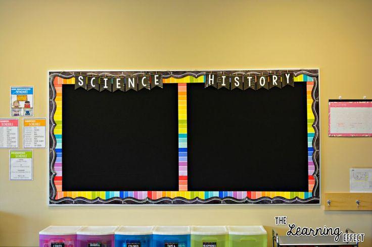 Rainbow / Chalkboard Classroom Decor | The Learning Effect