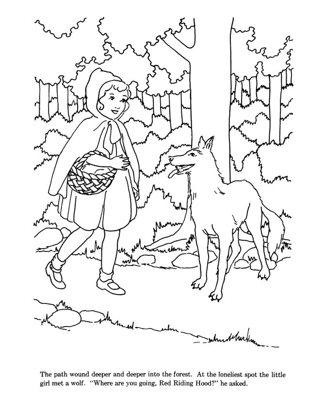 Little Red Riding Hood Coloring pages | Little Red Riding ...