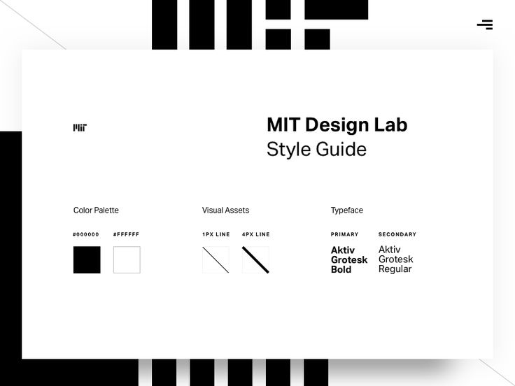 MIT Design Lab Style Guide by Moe Amaya