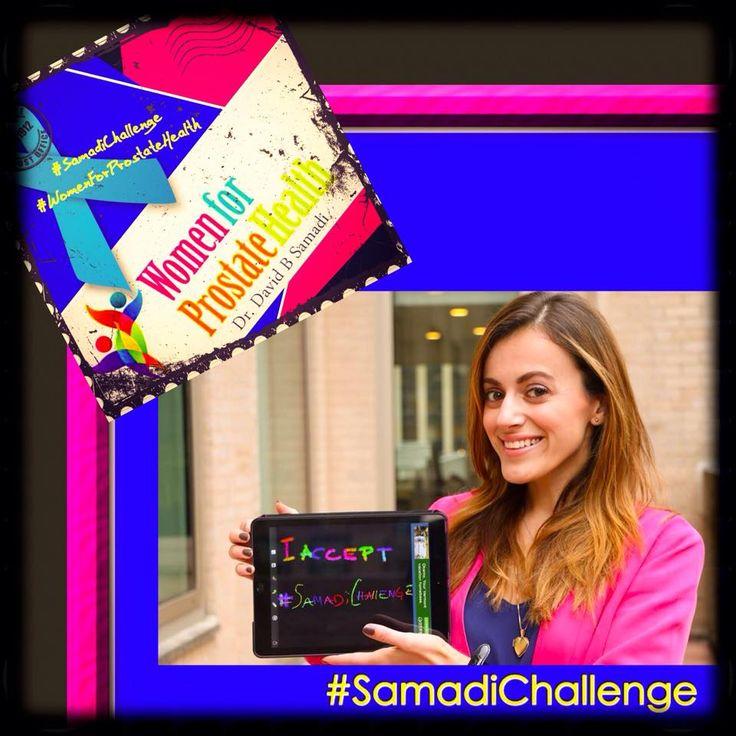 Spreading awareness is what it's all about! #SamadiChallenge #Womenforprostatehealth #girlpower