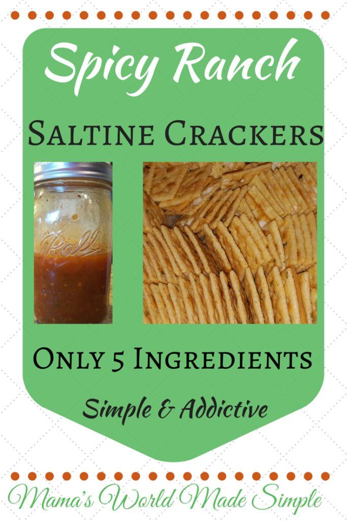 Spicy Ranch Saltine Crackers