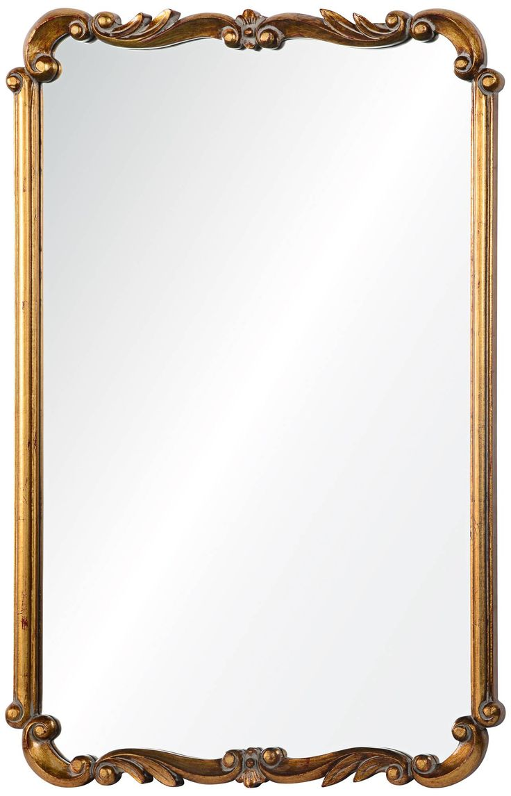 """Toulouse Gold 24 1/2"""" x 36"""" Rectangle Wall Mirror - #9W135 