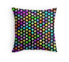 colorful distressed spot pattern polka dots pillow