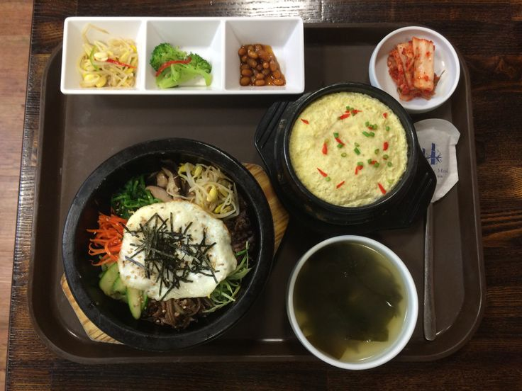 Olympic Spa: spa food the way it should be done!     Bibimbap, steamed egg, banchan  http://onemorebiteblog.blogspot.com/2014/03/korean-spas-for-body-and-soul.html?m=1