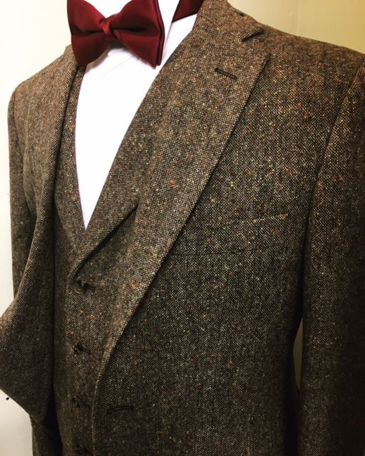 Brown Tweed Wedding Suit Hire
