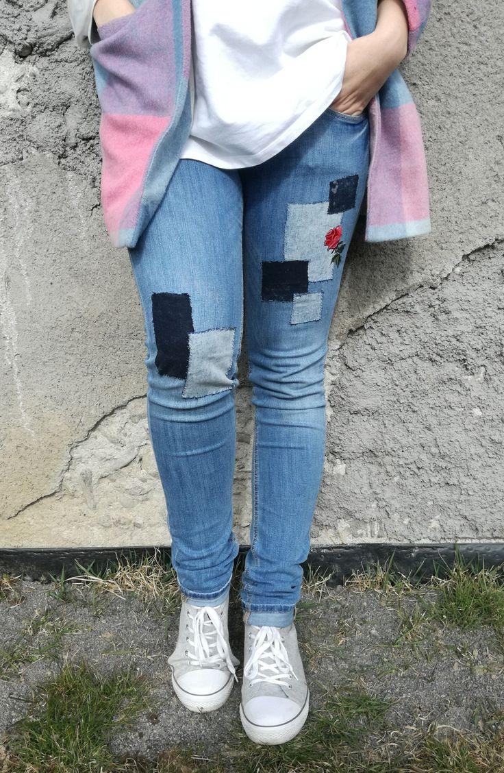 Jeans. H&M. Recycling. Handmade. DIY.