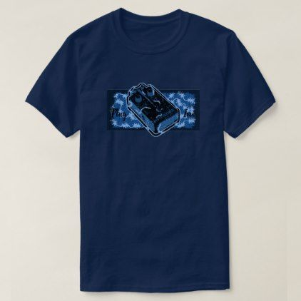 Distortion Pedal Blue Plug In T-Shirt  $24.00  by TeeshirtsPlenty  - custom gift idea