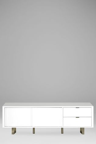 Buy Logan White Super Wide TV Unit online today at Next: Rep. of Ireland