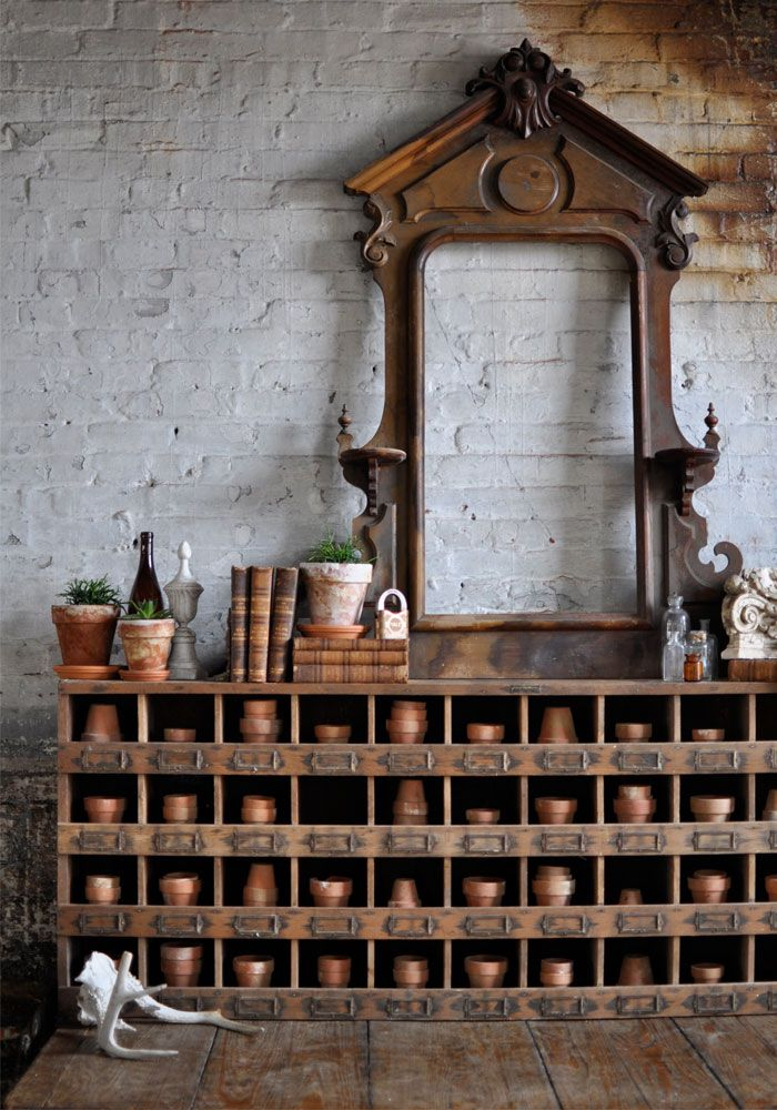 Brocante, Déco vintage brocante industrielle, meuble d'atelier, meuble de métier