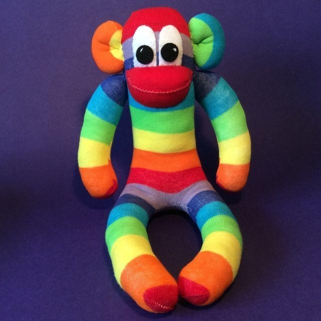 Sock Monkey rainbow by Sunnyteddy designs £12.00