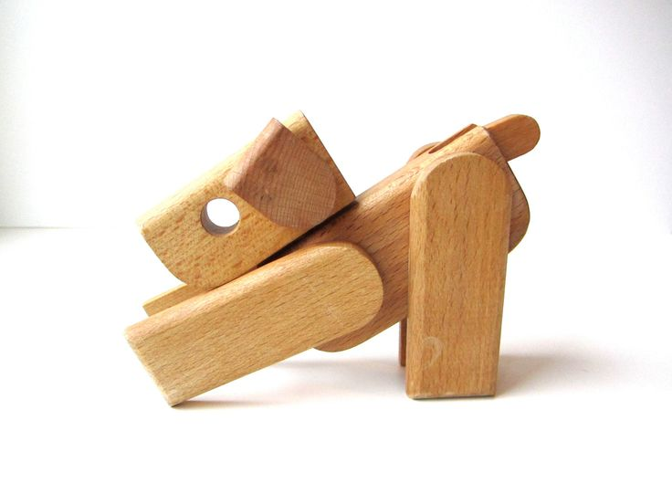 Wooden Dog Toy.