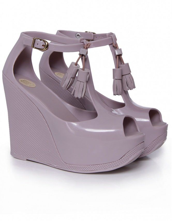 melissa shoes | plain peace platform wedges in lila