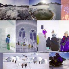 北海道河東郡鹿追町の然別湖の湖上や周辺で開催されるしかりべつ湖コタン 氷の上に露天風呂やbarコンサートホールにアイスロッジなどすべて氷と雪によって作り出されるのですよ まるごと北海道を味わえますよ  開催日時2017年01月28日2017年03月30日 tags[北海道]