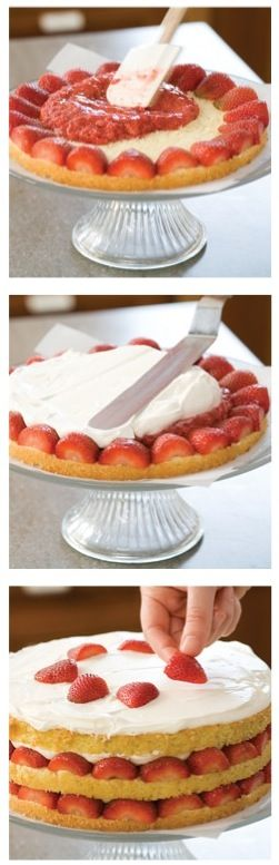 Secrets to Strawberry Cream Cake. #shopfesta