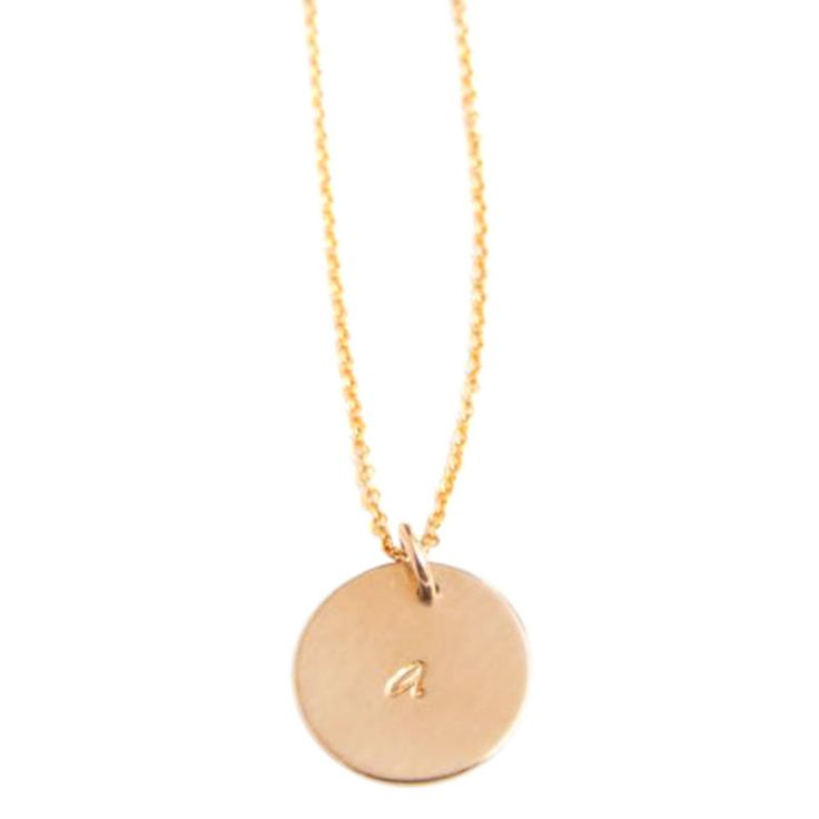 14K Gold Initial Charm Necklace By I AM Jewelry By Jamie Park | Chains, Charms & Strands - AHAlife.com