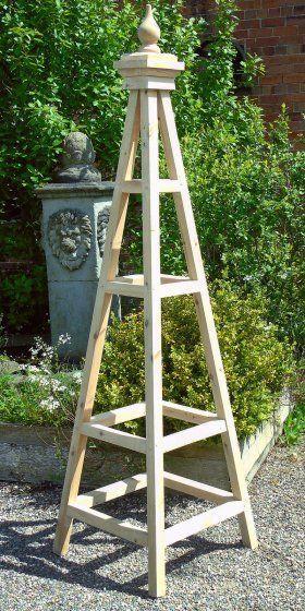 Kingsbury Wooden Garden Obelisk Garden Wooden Garden