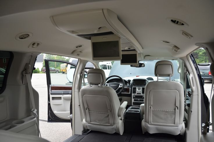 The front view of the Interior of the 2010 Chrysler Town and Country Touring PL For Sale