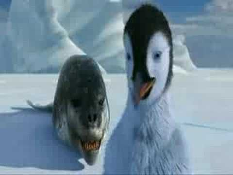 Happy Feet Video Clip- Mean Jean   Taunting, making fun, peer pressure, following the group, remorse