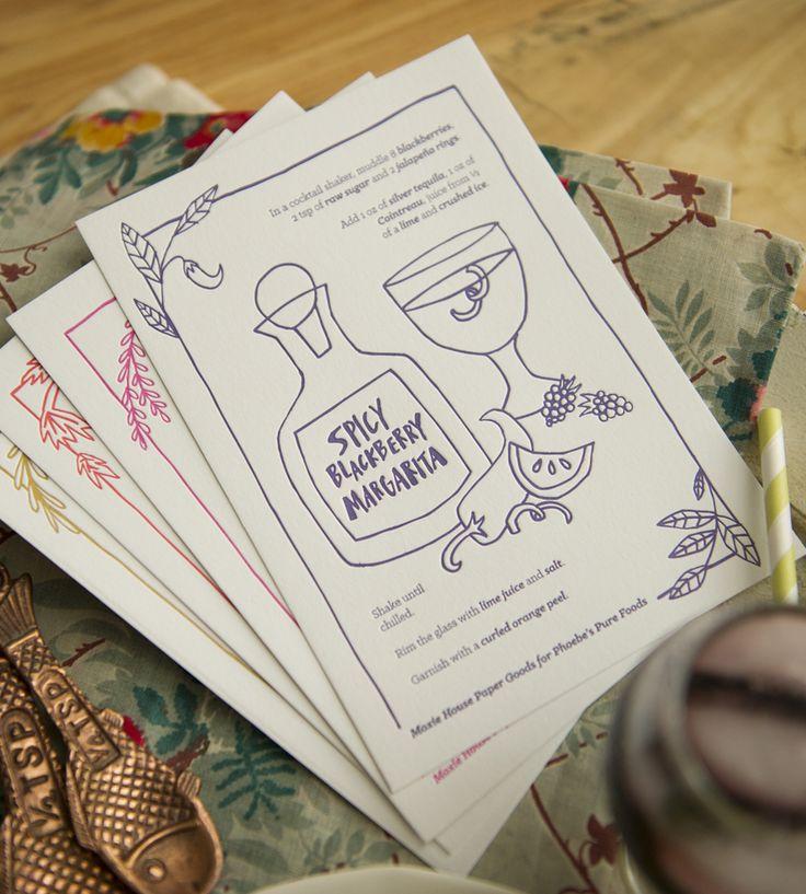 Cocktail Recipe Card Set