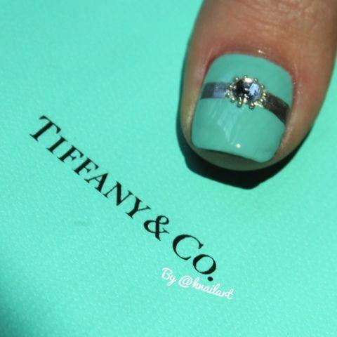 Best 25 tiffany nails ideas on pinterest tiffany blue nails tiffany and co nail art prinsesfo Gallery
