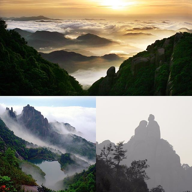 "According to the legend, an old granny planted orchids in the mountains in the Yao Period (Yao, a legendary monarch in ancient China), and a Taoist priest helped her to ascend and become an immortal, therefore, people called her ""Tai Mu"" or ""Mu"", ""Tai"" is adopted to show respect for the old granny, hence the mountain was renamed as #Mount Taimu.#beautifulchina #travelling #mountTaimu#naturephotography #naturegeography #ningde"