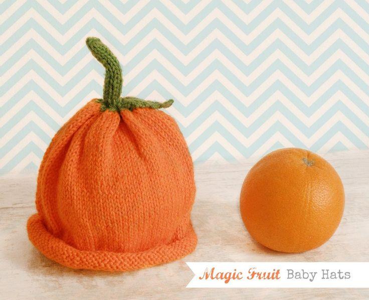 Cappello Lana Arancia per bimbo e bimba, Magic Fruit Hats, Cappellino lana arancione, by Melimebaby, 15,00€ su misshobby.com
