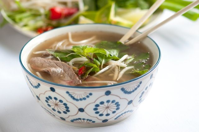 Pho Soup Recipe with Video from www.inspiredtaste.net #recipe #soup