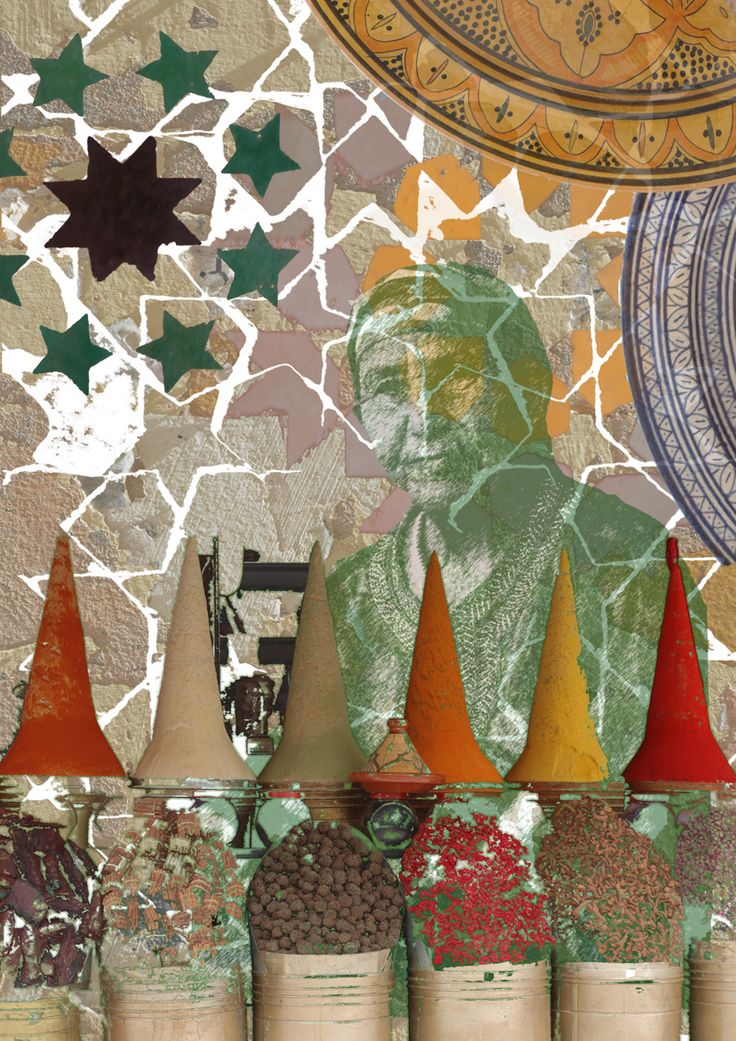 Morocco I Love You. Digital collage art by Yasmine Dabbous.