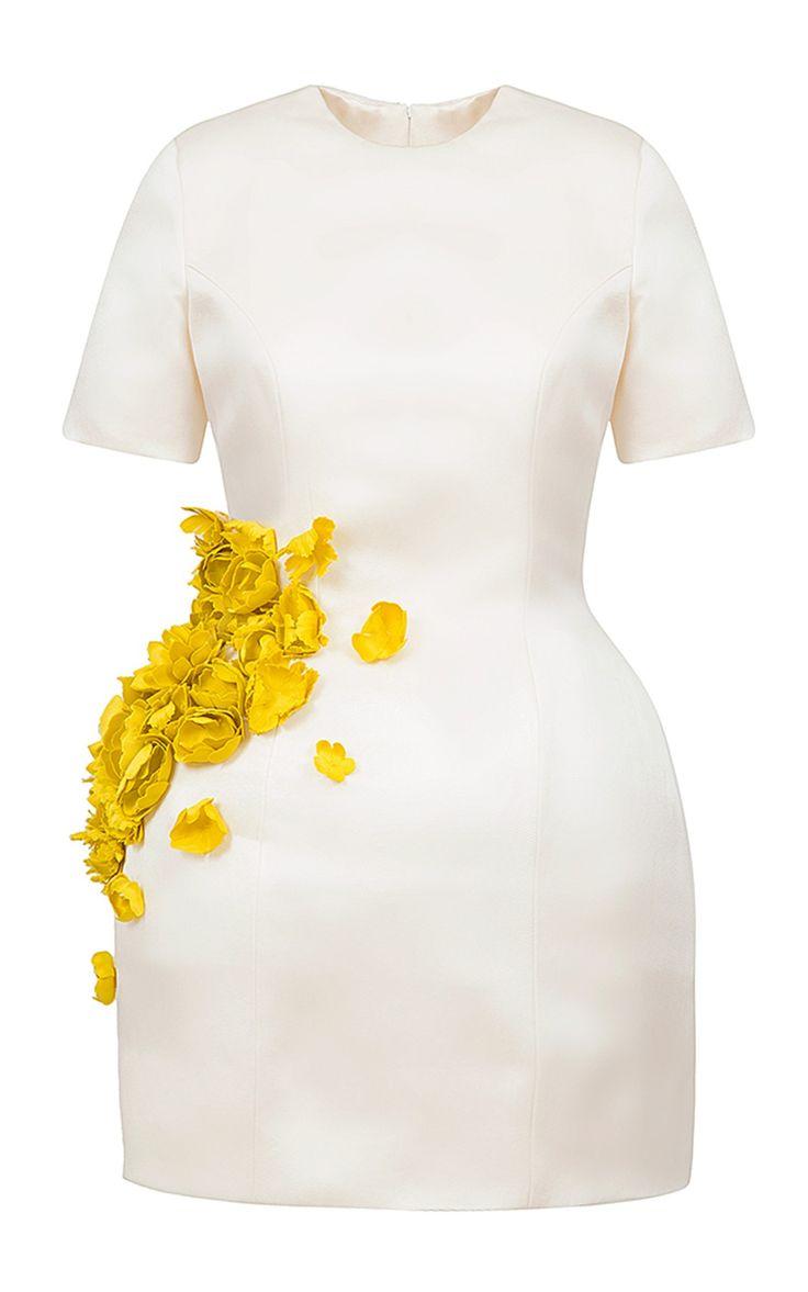 Floral Applique Mini Dress by Esme Vie | Moda Operandi