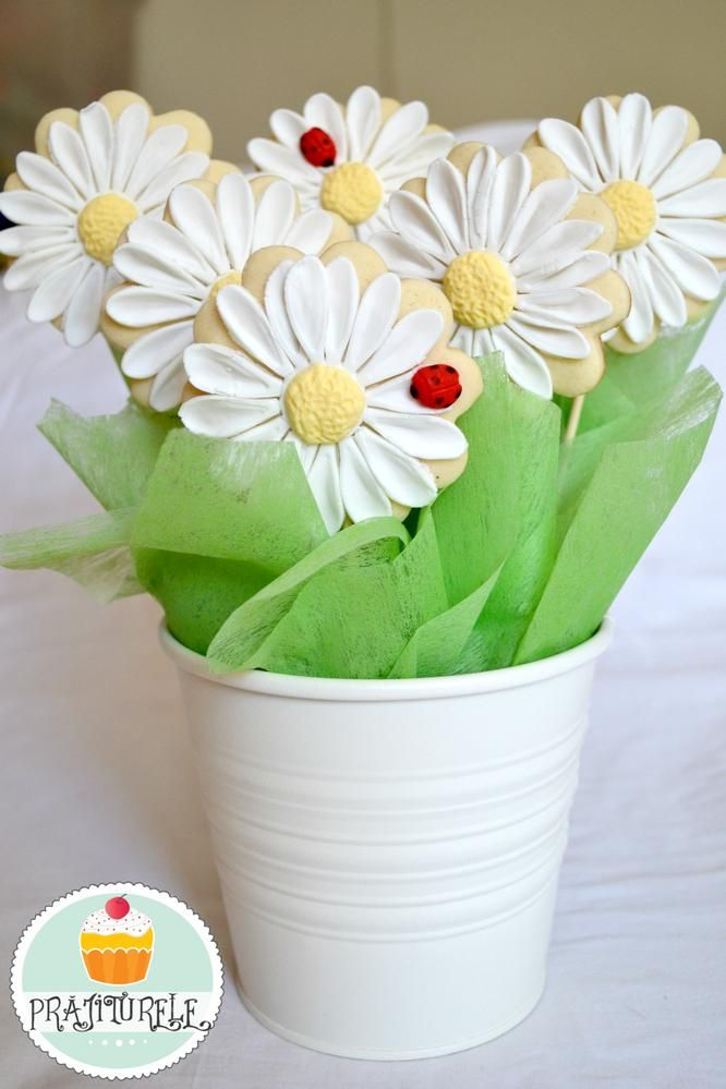 daisies cookies bouquet | Cookie Connection