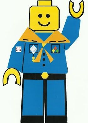 I made this scout lego for our Blue and Gold Banquet. Feel Free to use him (: