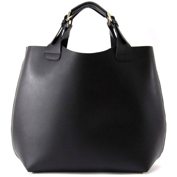 Zara shopper bag ❤ liked on Polyvore