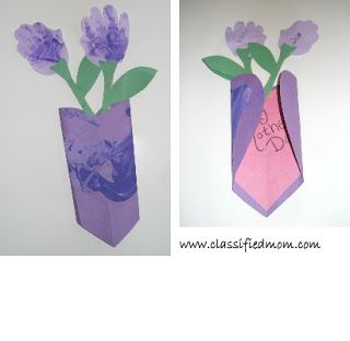 Classified: Mom: Kid's Craft: Mother's Day Flowers Card