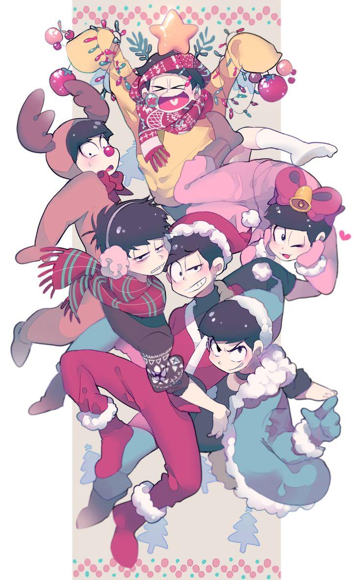 Osomatsu-san- Osomatsu, Karamatsu, Choromatsu, Ichimatsu, Jyushimatsu, and Todomatsu #Anime「♡」Christmas
