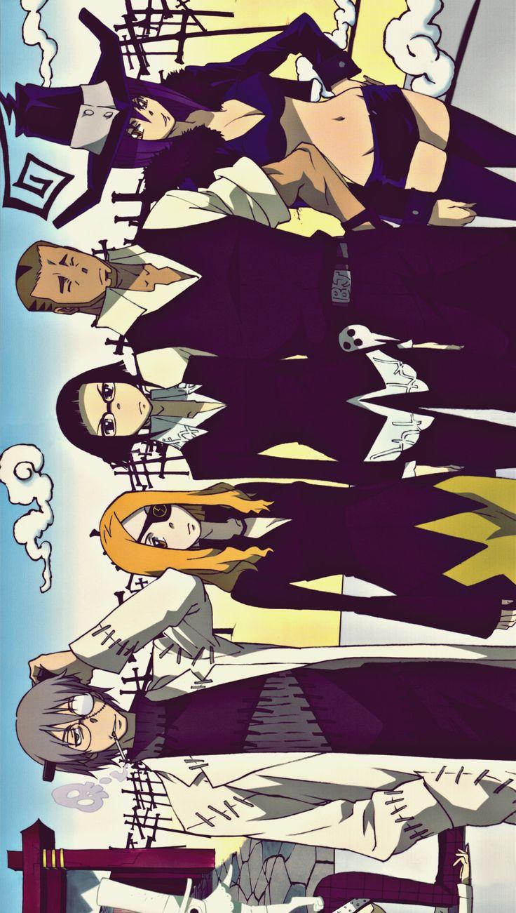 Soul Eater (From left to right: Stein, Mari, Azusa, Joe, Blair)