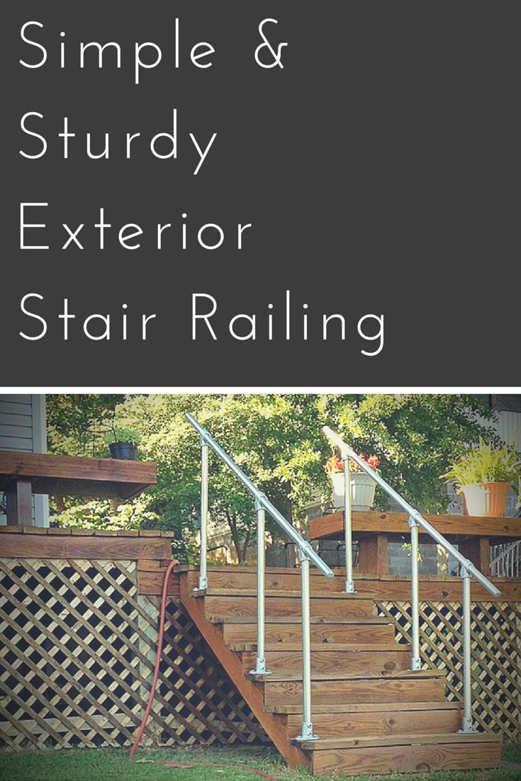 Best 20+ Outdoor stair railing ideas on Pinterest | Deck stair ...
