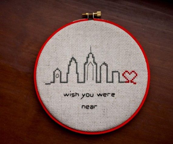 i just adore this cross stitched philly sky line!