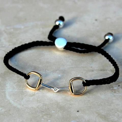 Silver & Gold Snaffle Friendship Bracelet