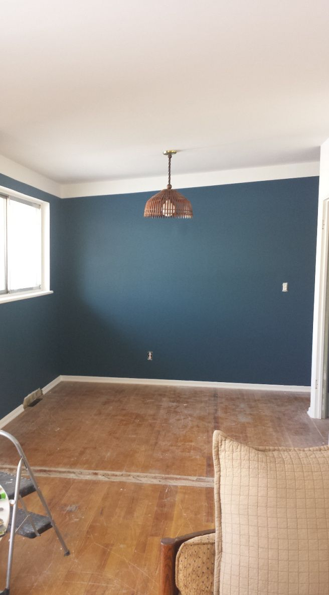 terrific bedroom wall color | Deep Twilight Blue Valspar - would look great in C's ...
