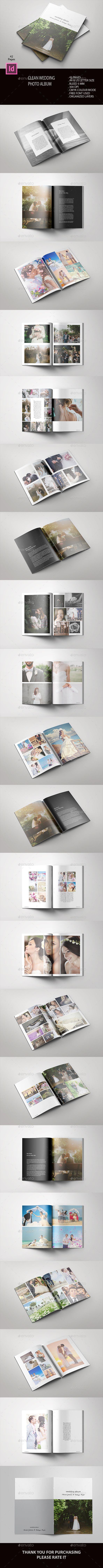 Clean Wedding Album - #Photo #Albums Print Templates