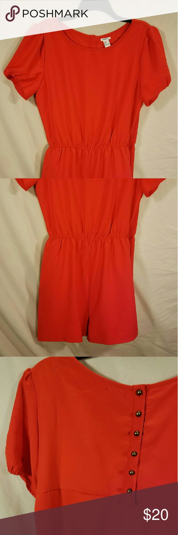 Classy Jumper This red-orange number is plain from the front with cute buttons down the back Forever 21 Other
