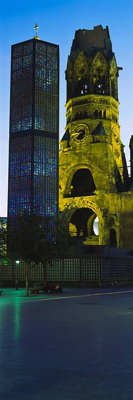 Kaiser Wilhelm Memorial Church, Berlin - Germany -- this is a beautiful, albeit sobering, memorial of WWII.