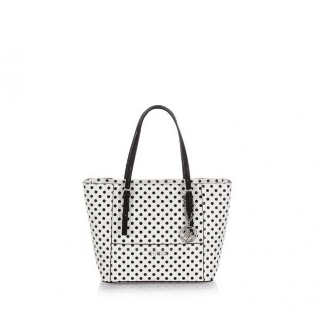 Borsa Guess shopper piccola pois Delaney GD4535220 #guess #bags #borse #fashion